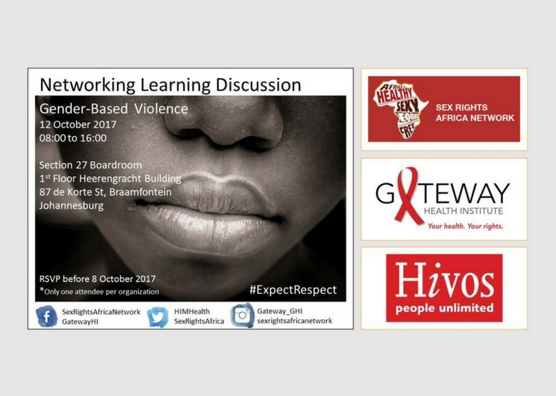 Sex Rights Africa Network: Networking & learning discussion on GBV – Facebook Live feed