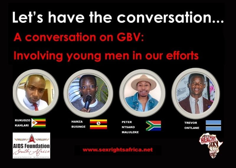 A conversation on GBV: Involving young men in our efforts to end Gender Based Violence